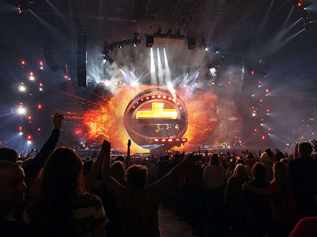Take That's stage (Manchester Arena).