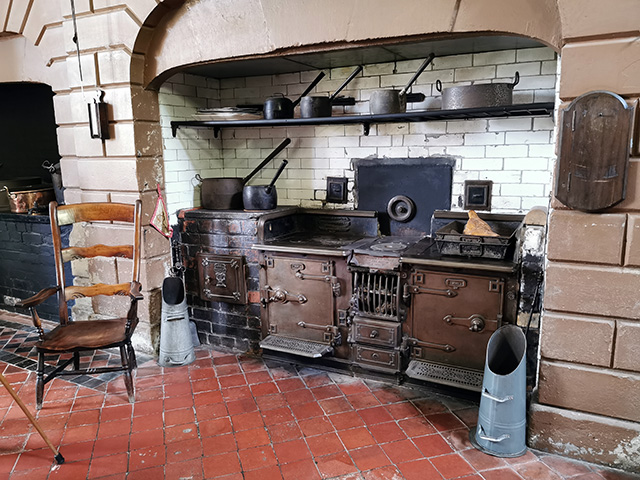 The kitchen at Erddig.