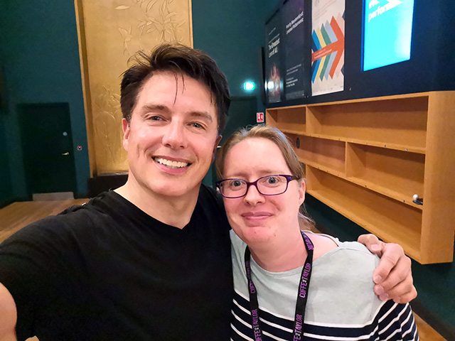 John Barrowman MBE and me!