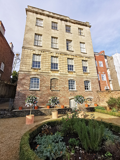 The back garden of The Georgian House Museum.