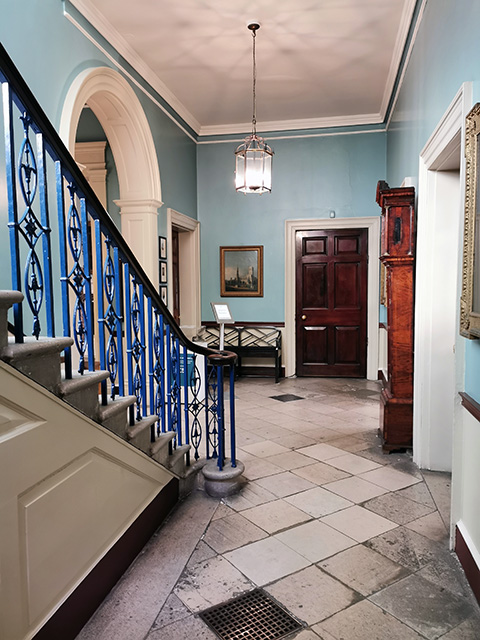The hallway in The Georgian House Museum.