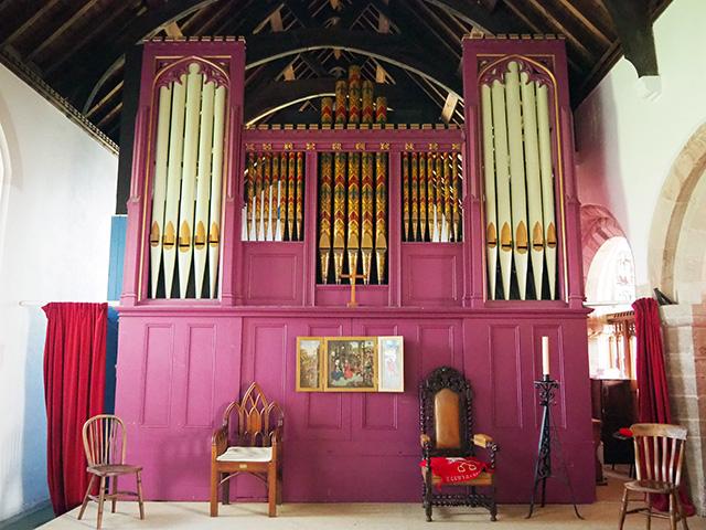 The church organ.