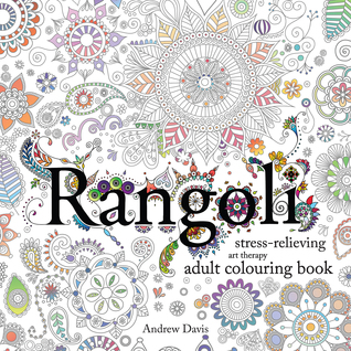 Rangoli colouring book cover