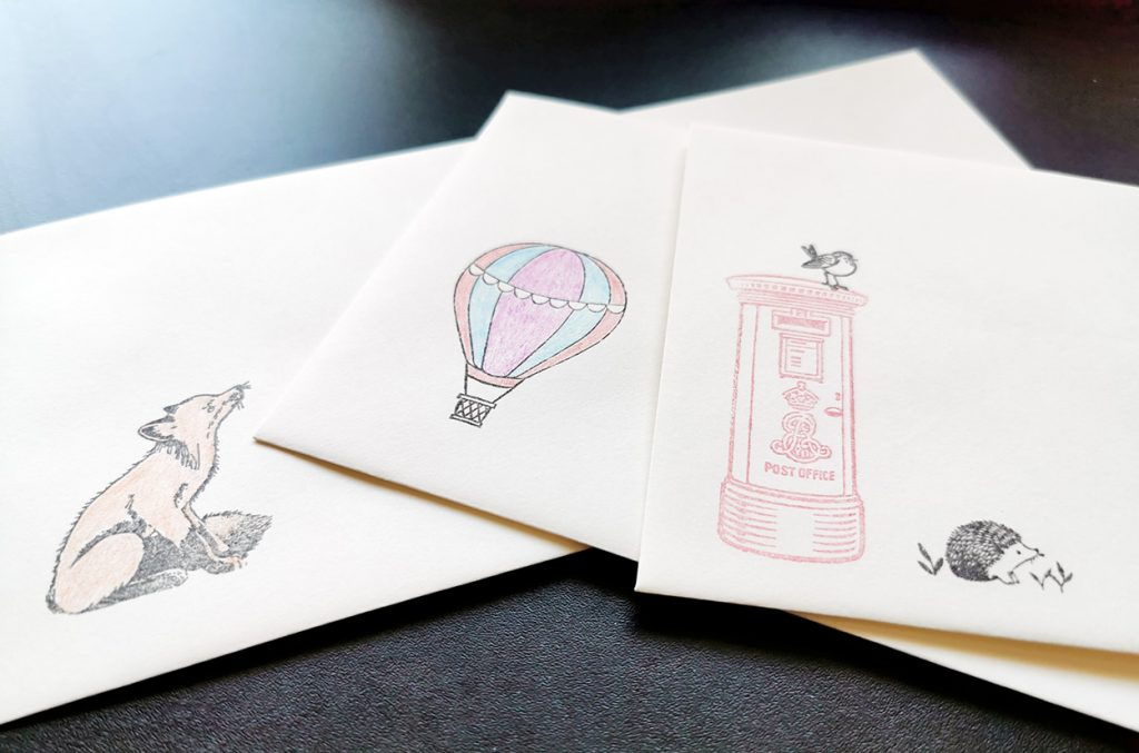 Decorated stamps.