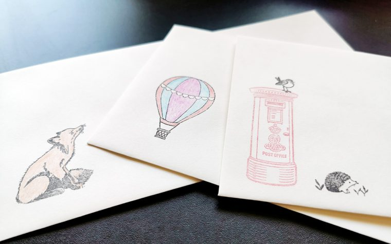 Decorated envelopes.
