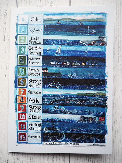 Illustrated beaufort scale card
