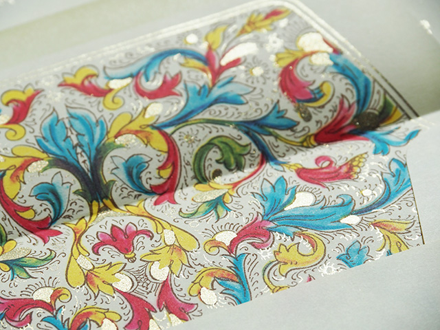 The detail inside the Kartos Florentia envelopes.