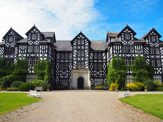 The front of Gregynog Hall.