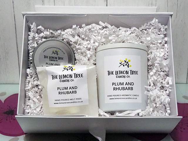 My box of goodies from The Lemon Tree Candle Co.