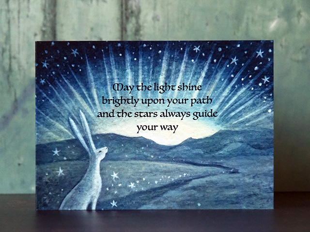 May the Light Shine Brightly Greeting Card.