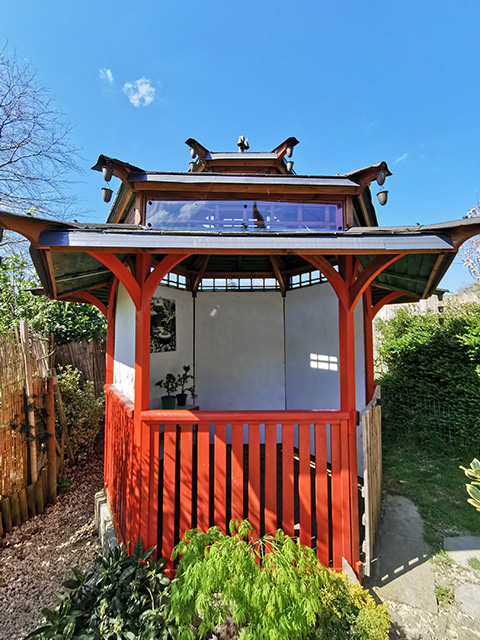 The Japanese Tea House at Tranquility Haven.