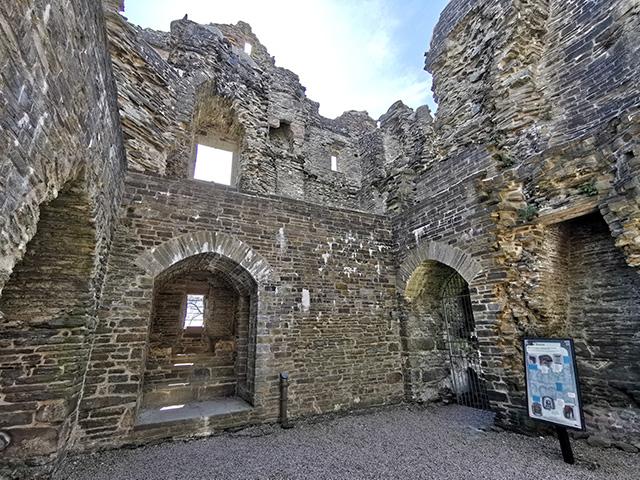 Inside Hopton Castle.