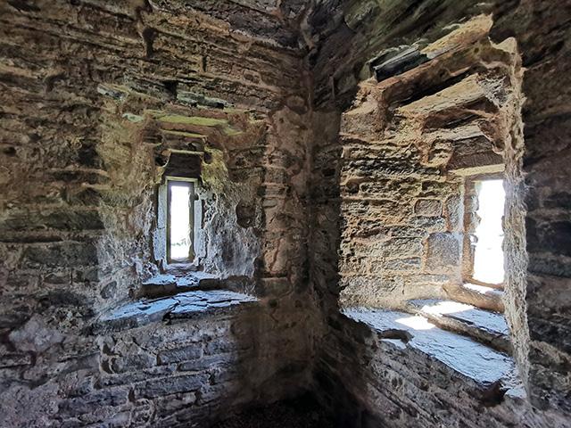 Windows in Hopton Castle.