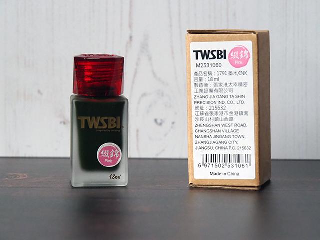 A bottle of TWSBI Pink ink.