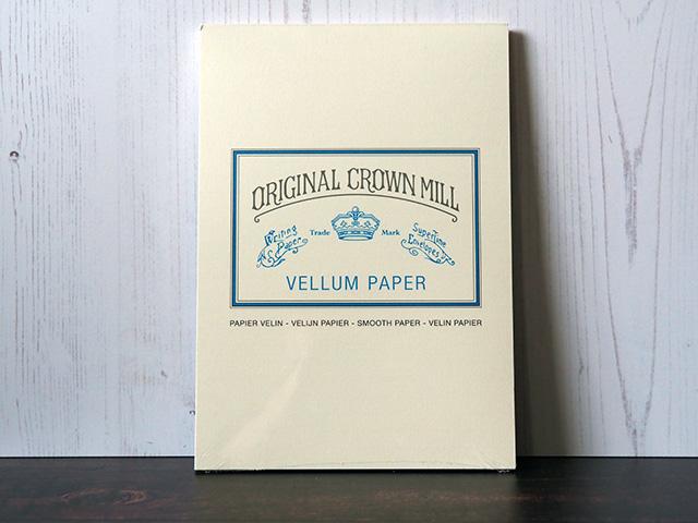 A pad of A5 Crown Mill Cream Vellum paper.