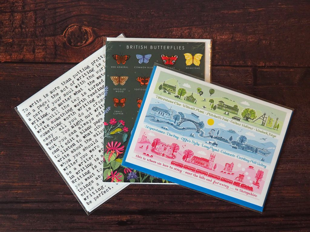 3 greeting cards from Write Here in Shrewsbury