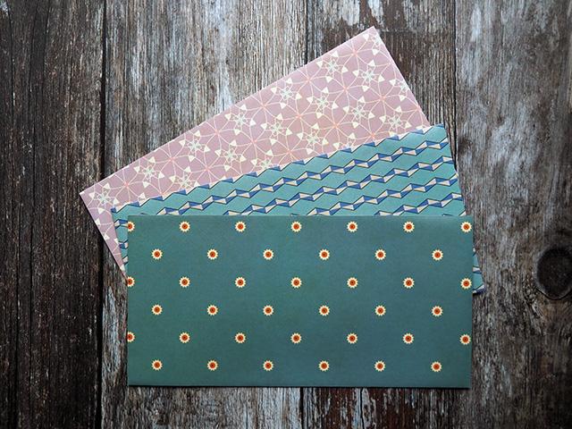 Bindewerk DL patterned envelopes (front).