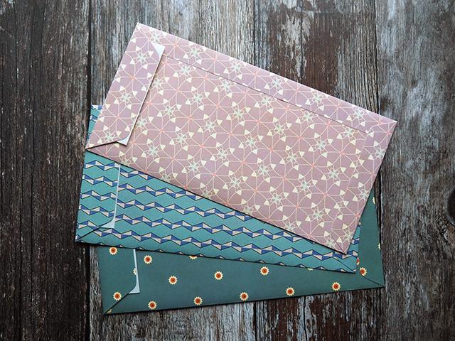 Bindewerk DL patterned envelopes (back).