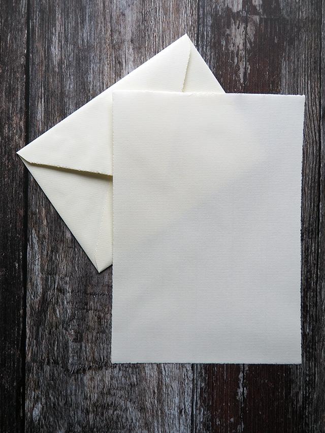 Original Crown Mill cream writing paper & envelope.