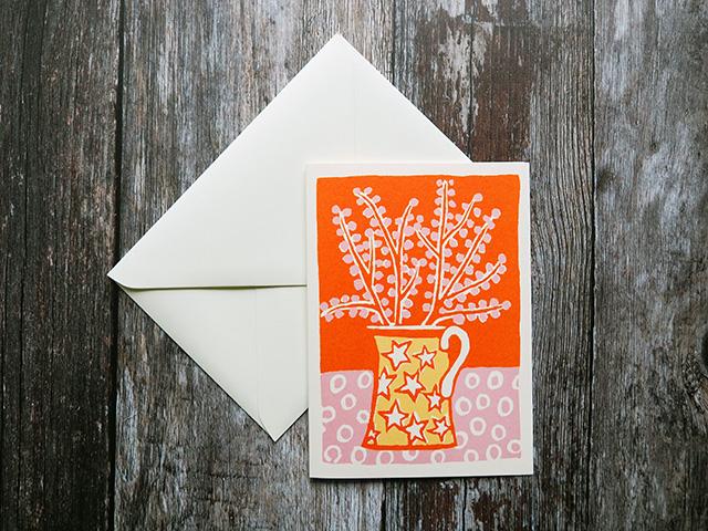 A6 Cambridge Imprint greetings card.