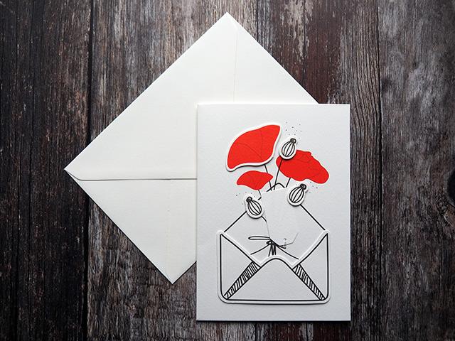 Räder Poppies greetings card.