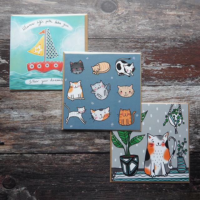3 greeting cards from Handmade Dorset.