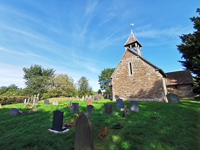 The churchyard at Clee St Margaret.