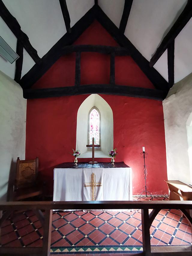 Inside St Margaret's Church.
