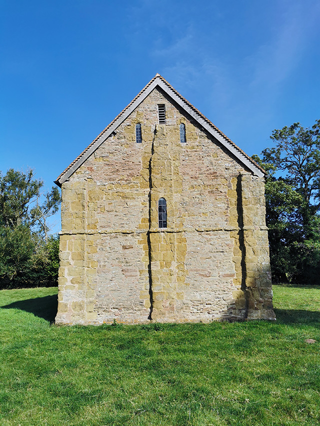 The west end of Heath Chapel.