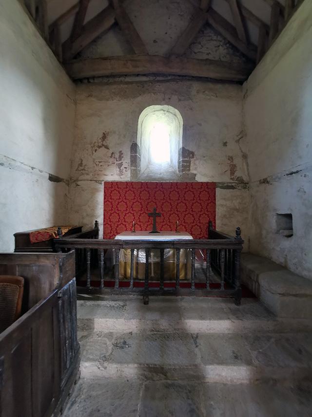 Inside Heath Chapel.