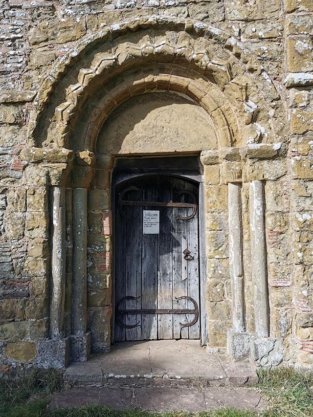 The door at Heath Chapel.